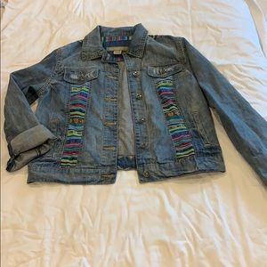 Jean jacket with color detail